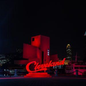 Illuminated Cleveland Sign